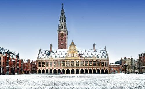 Biblioteca de Lovaina en Bélgica