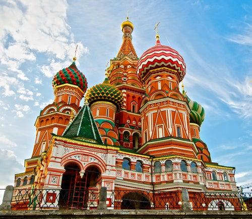 Catedral de San Basilio en la Plaza Roja de Moscú.