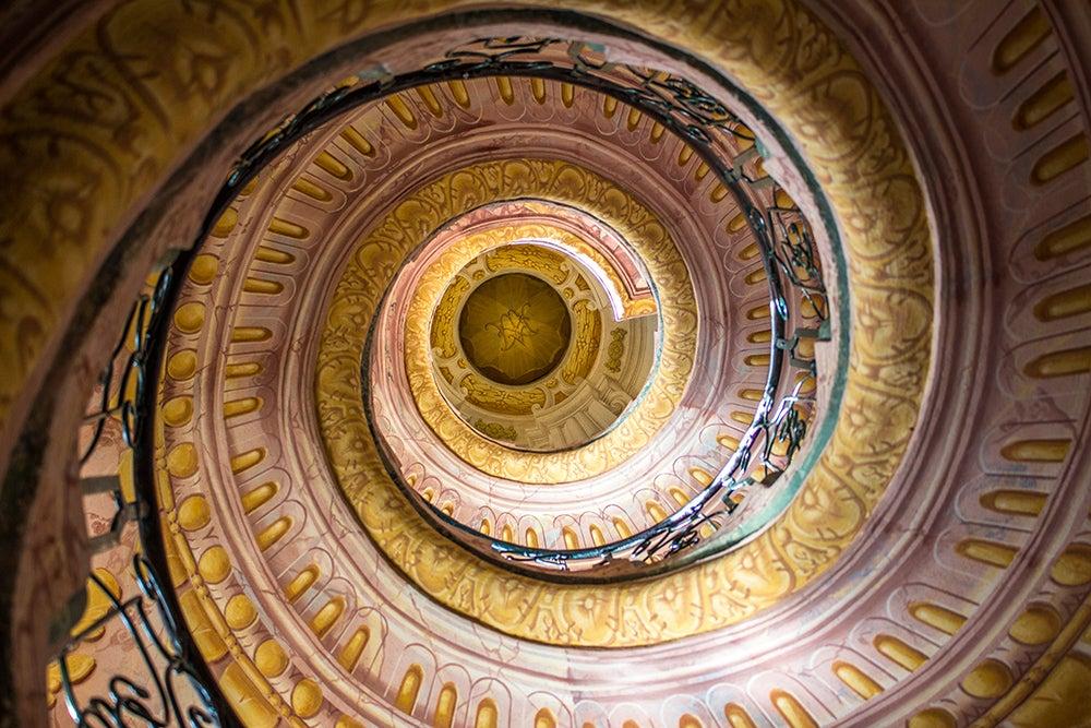 Escaleras dela abadía de Melk en Austria