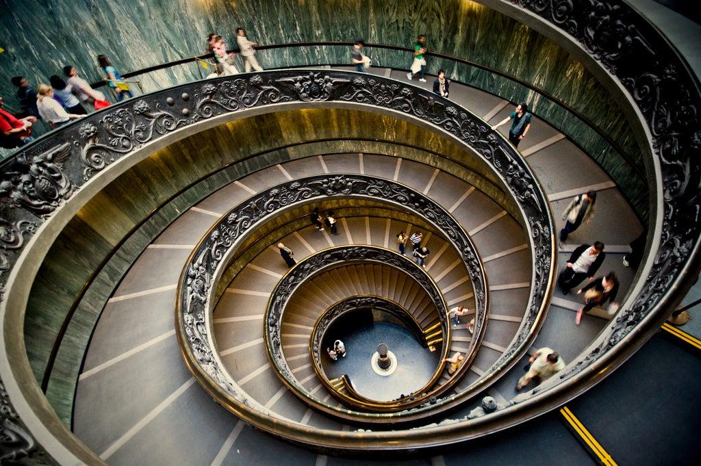 Escaleras muy especiales: Museos Vaticanos