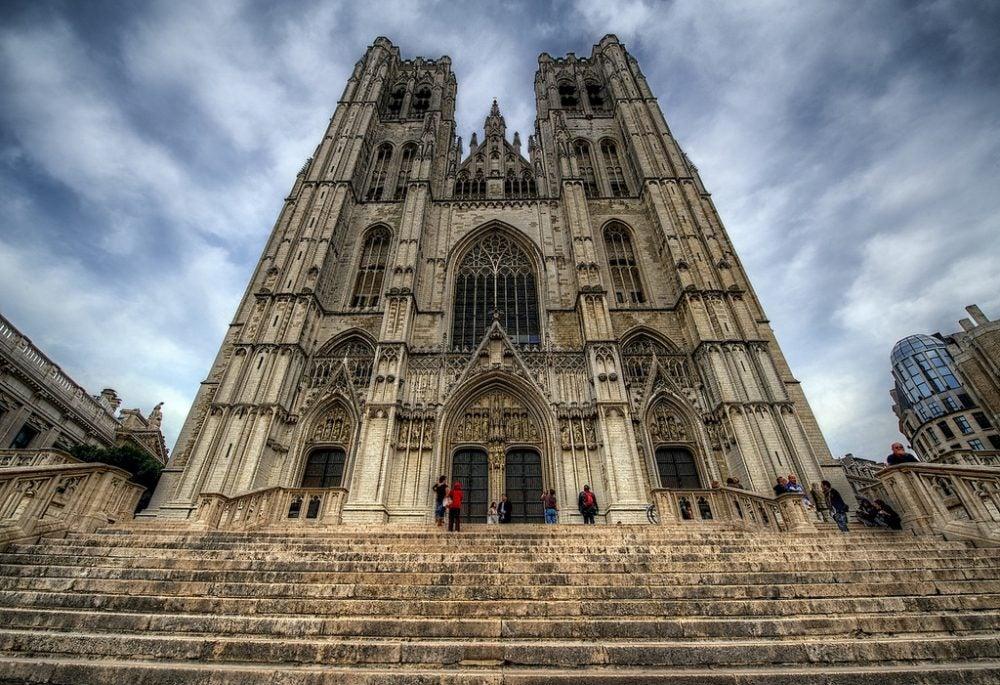 Fachada dela catedral de Bruselas