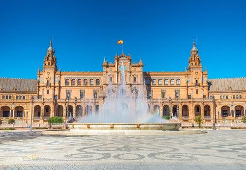 Fuente de la Plaza de España de Sevilla