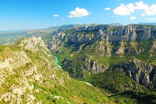 Gargantas del río Verdon en Francia