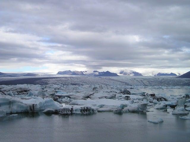 Glaciar en el Polo Norte