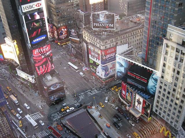 Vista de Times Square desde el Hotel Marrott Marquis