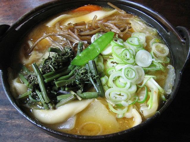 Houtou, plato típico en el monte Fuji
