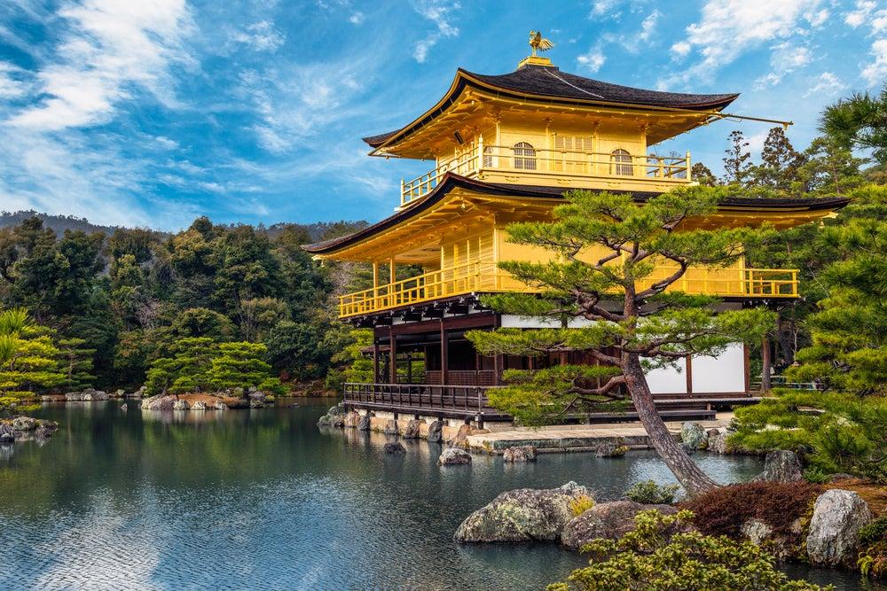 Pabellón de Oro de Kioto en Japón