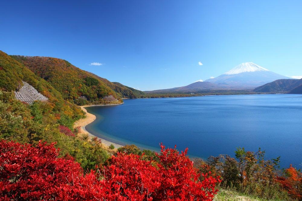 LAgo Motosuko cerca del monte Fuji