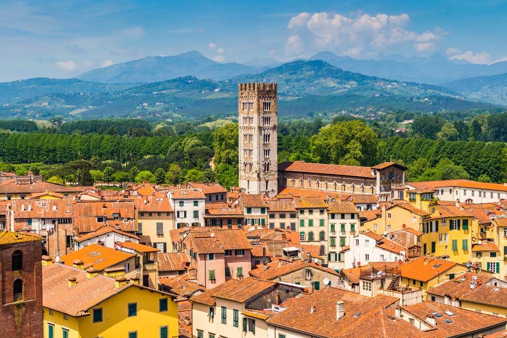 Lucca en la Toscana italiana