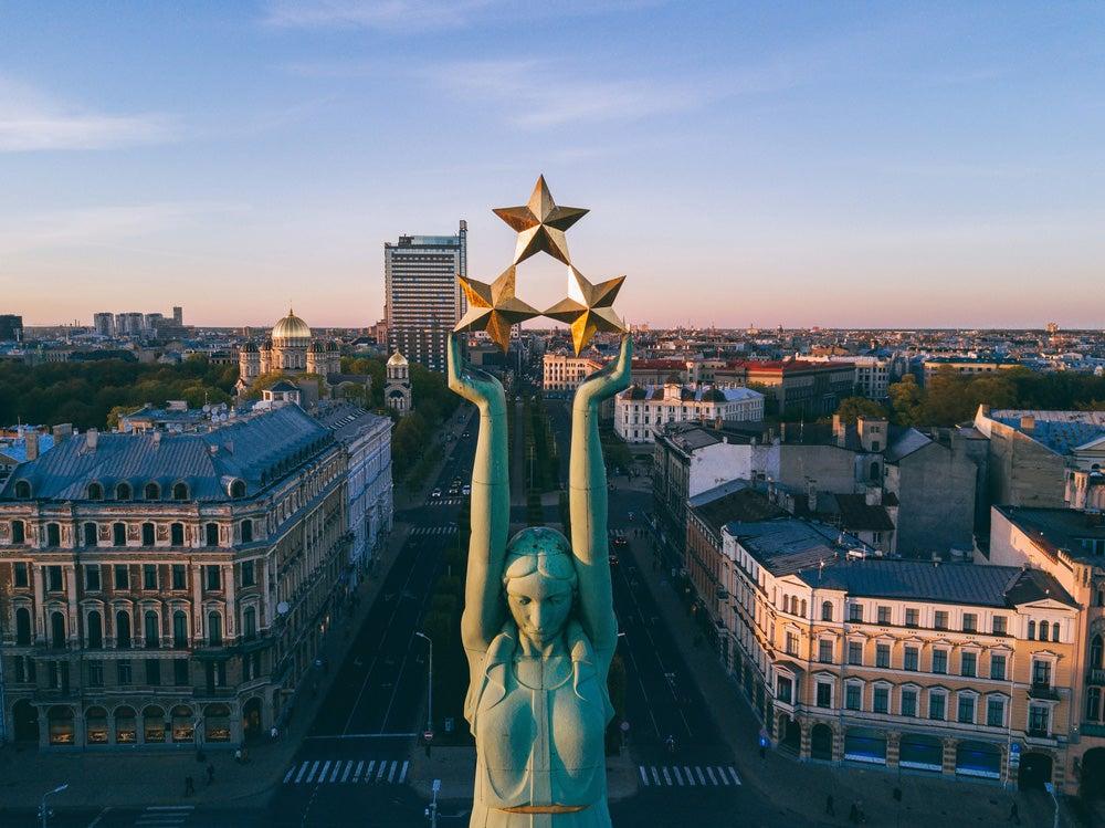 Monumento a la Libertad en Riga