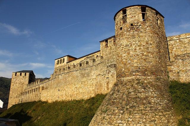 Muros del castillo de Ponferrada