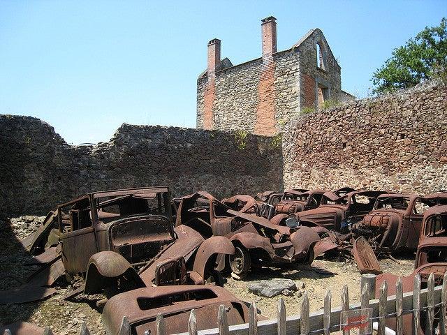 ORador-sur-Glane una de las ciuddes abandonadas en Francia