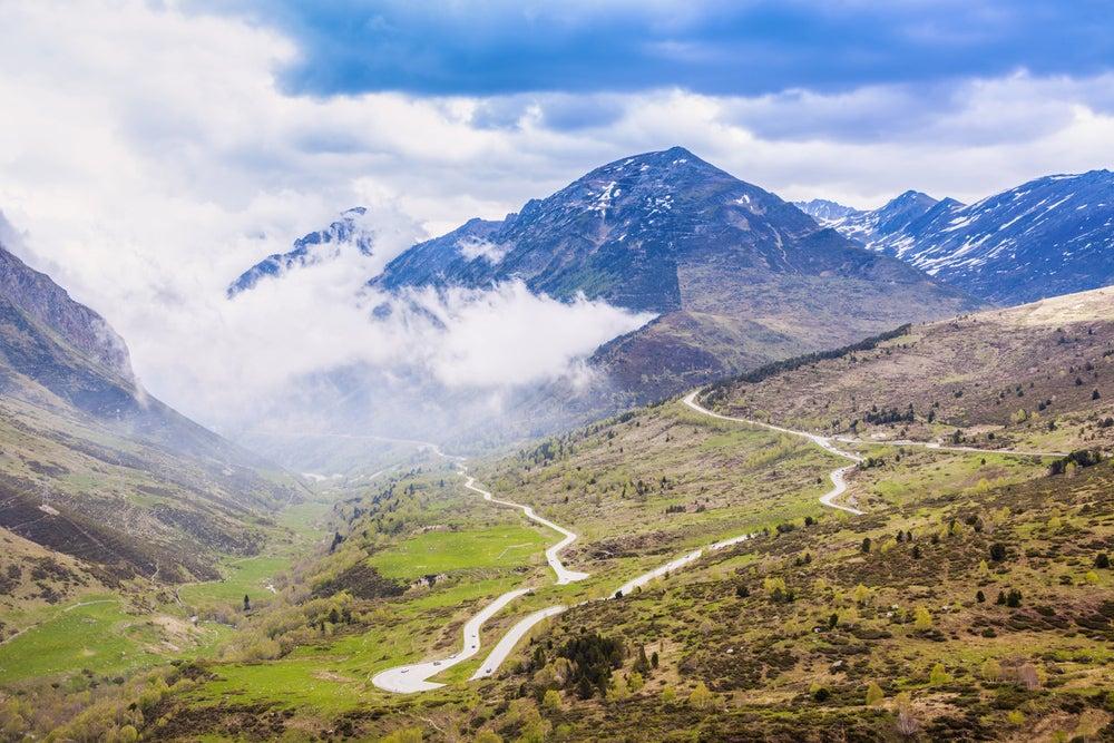Tiempo en Andorra la Vella, vista en primavera
