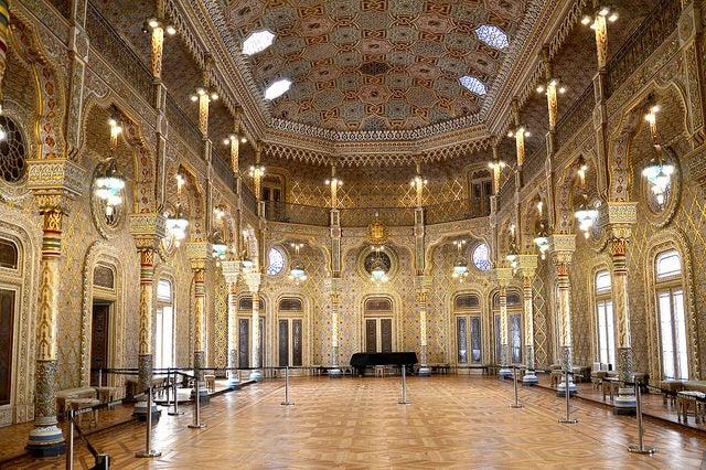 Palacio de la Bolsa en la ciudad de Oporto