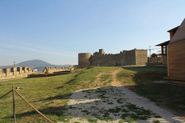 Patio del castillo de Ponferrada