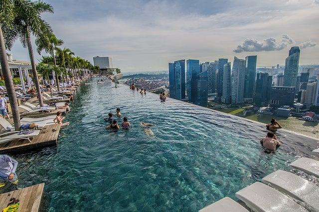 Piscina del Marina Bay Sands en Singapur