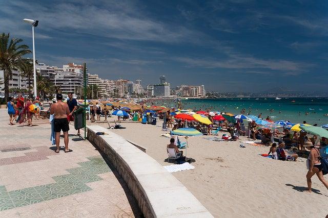 Playa de La Fossa en Calpe