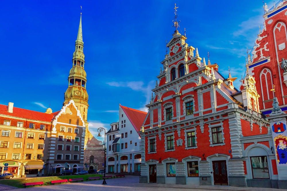 Plaza del Ayuntmaiento de Riga, capital de Letonia