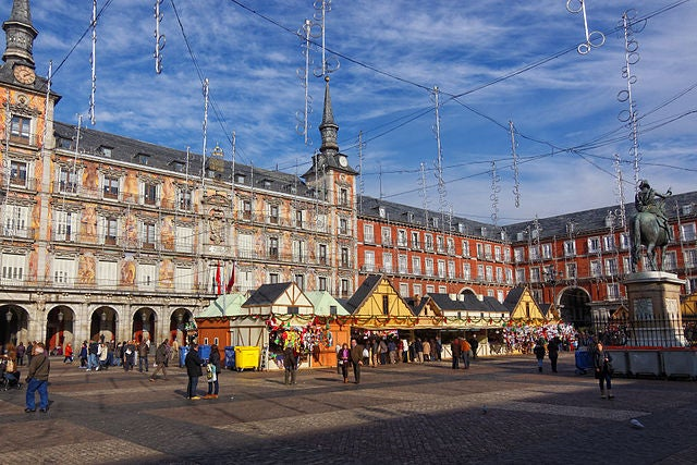 Mercadillo navideño Plaza Mayor Madrid