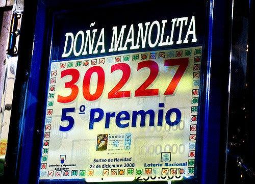 Cartel en Doña Manolita
