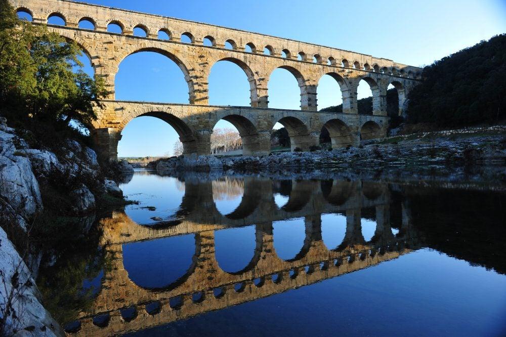 El puente de Gard, un fantástico acueducto romano