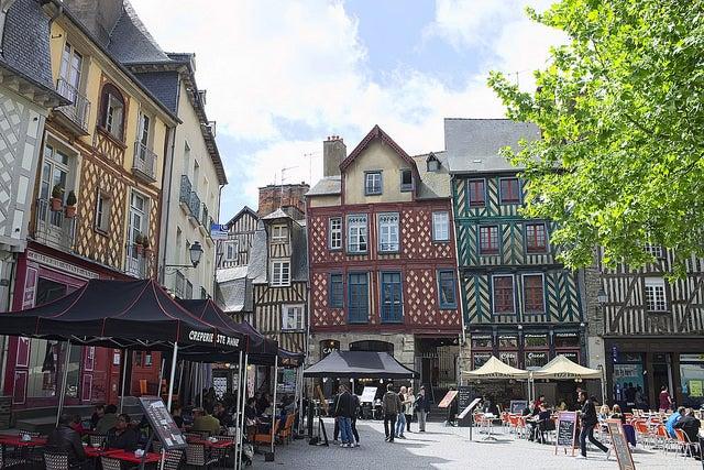 Mapa de Francia: Rennes.