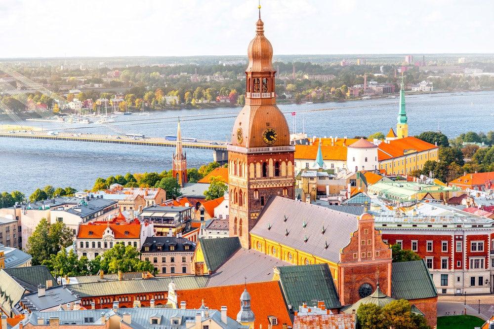 Vista de Riga, la capital de Letonia