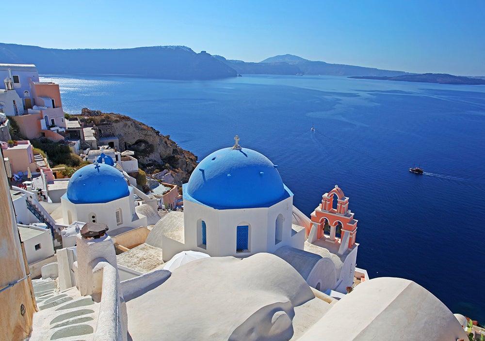 Santorini en el mapa de Grecia