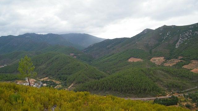 sierra de Riomalo de Abajo en el Meandro de Melero