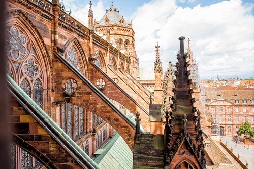 TEjados de la catedral de Estrasburgo