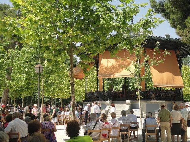 Templete de Música en El Retiro de Madrid