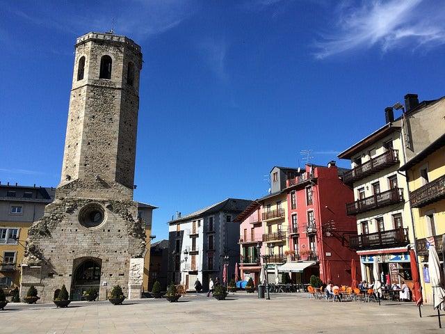 Torre del campanario de Puigcerdá