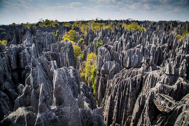 Tsingy en Madagascar