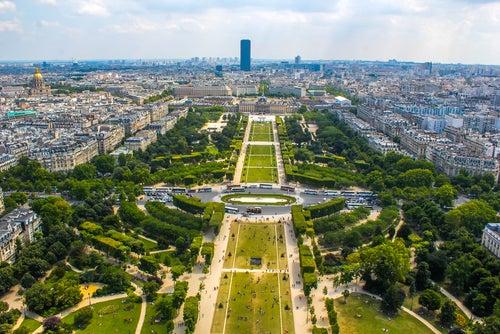 Vista desde la Torre Eiffel de París
