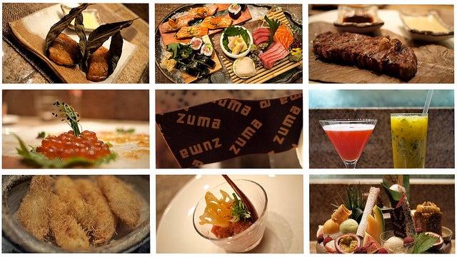 Menú de Zuma en Londres