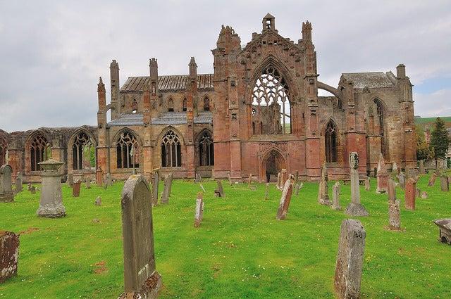 Abadía Melrose en Escocia