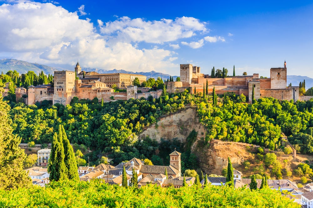 La Alhambra de Granada desde el mirador de San Nicolás