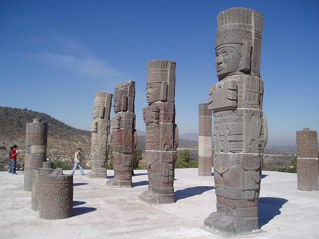 ¿Conoces las esculturas de los Atlantes de Tula?