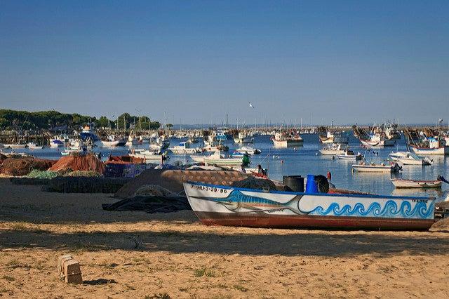 Barcos en Punta Umbría