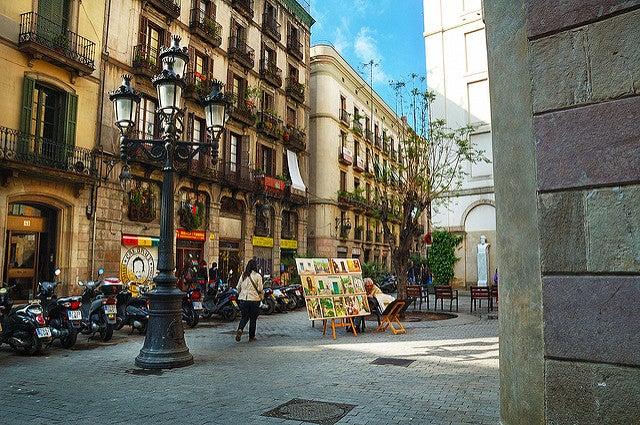 Calle del barrio de Born en Barcelona