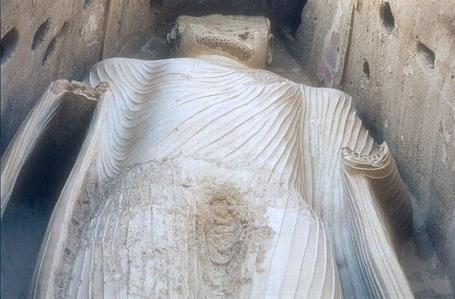 Buda de Bamiyán antes de su destrucción