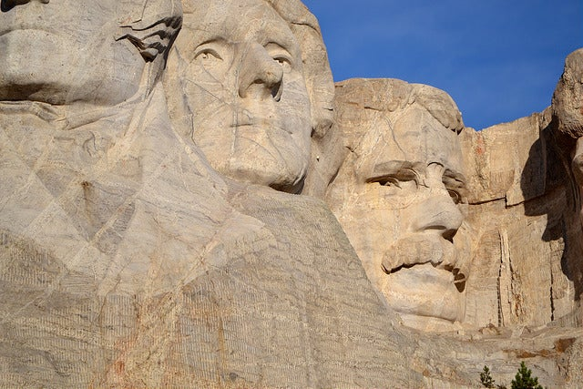 Roosvelt y Jefferson en Monte Rushmore