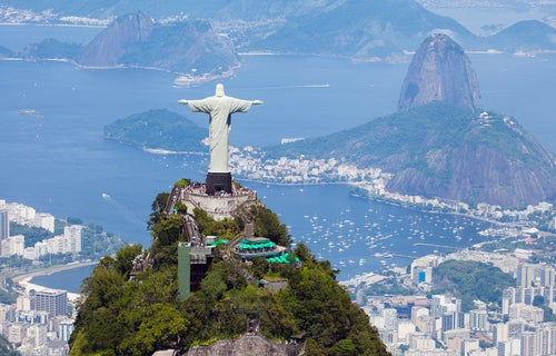 Cerro del Corcovado y Cristo Redentor