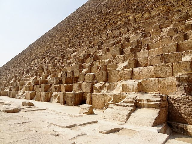 Detalle de los bloques de la pirámide de Guiza