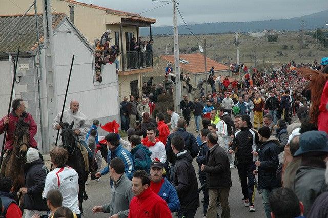 Encierro en el Carnaval de Ciudad Rodrigo
