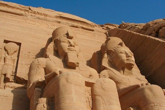 Estatuas de Ramsés II en Abu Simbel