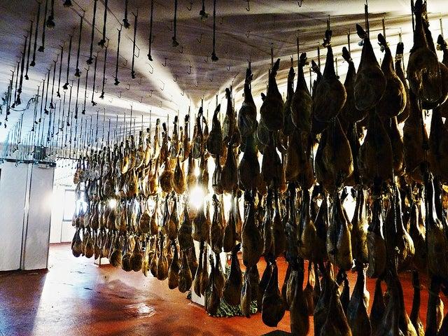 Fábrica de embutidos en Guijuelo