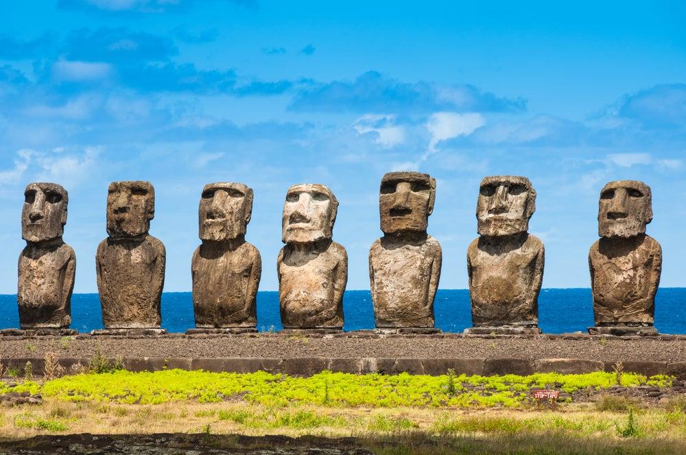 6 curiosidades de los moáis de la Isla de Pascua