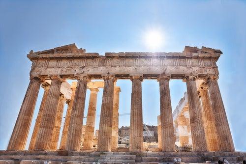 Frontal del Partenón de Atenas