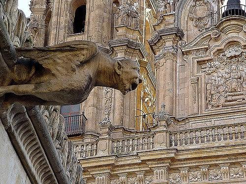 Gárgola en la casa de las Conchas de Salamanca